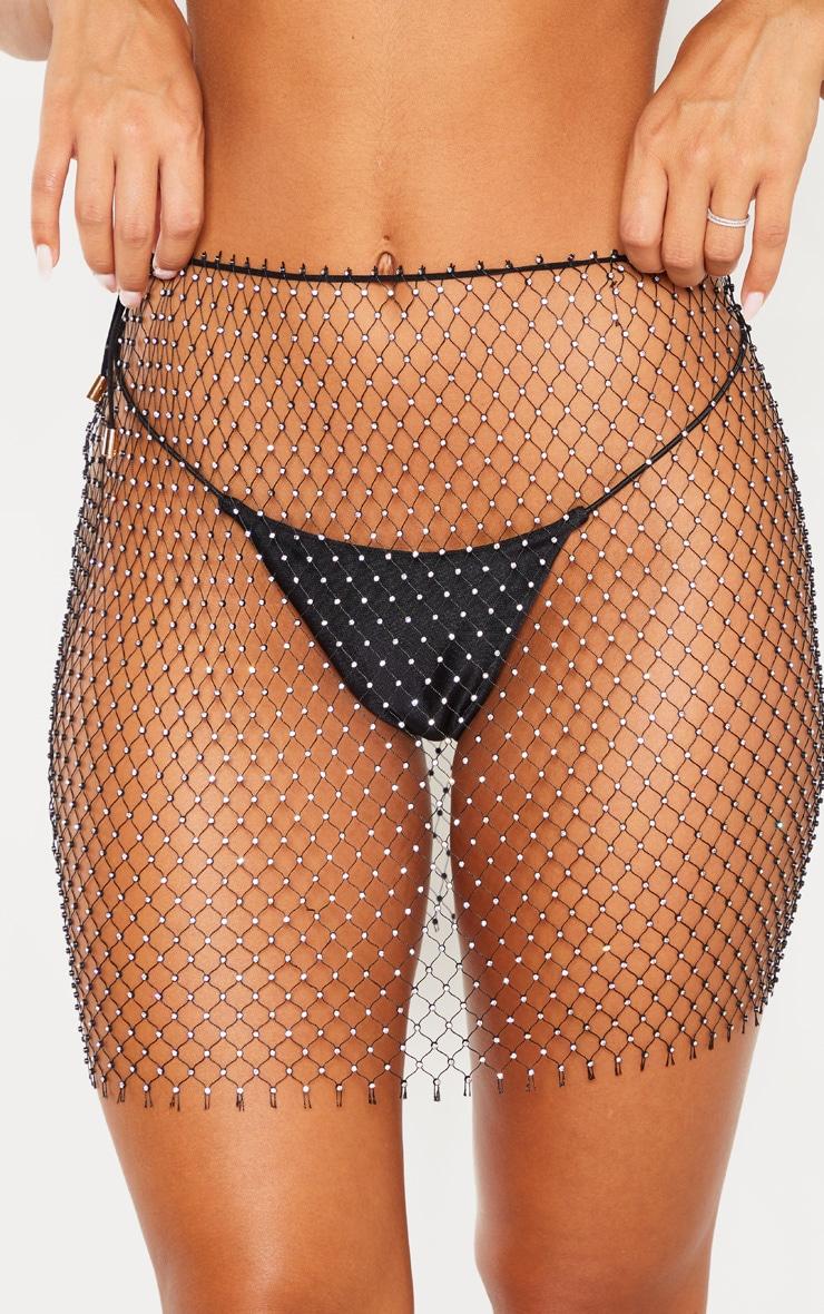 Black Diamante Net Skirt Body Jewellery 6