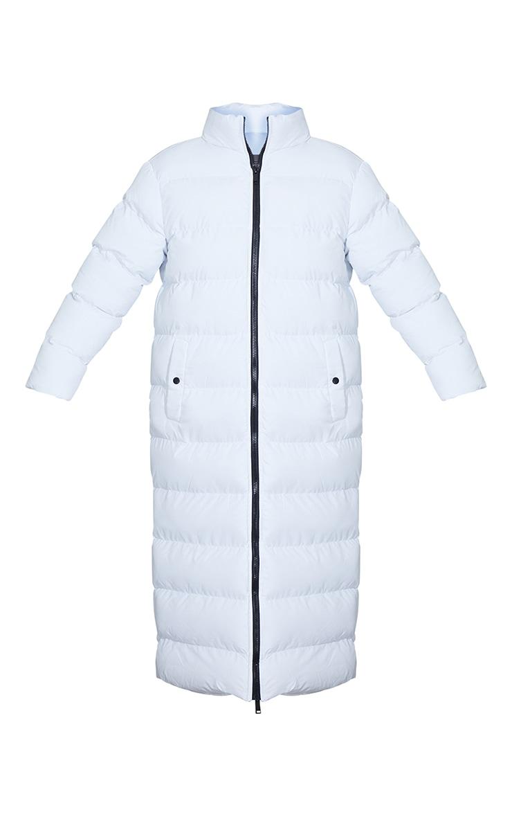 White Maxi Bubble Puffer Jacket 5