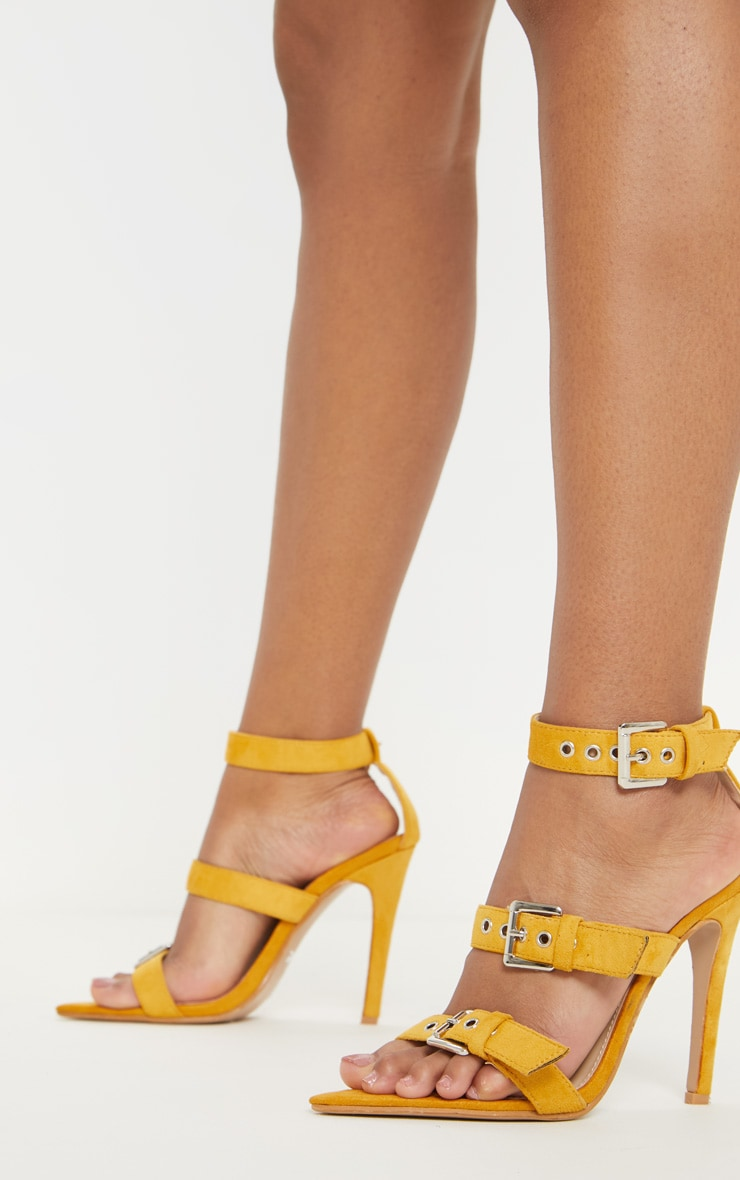 Mustard Point Toe Triple Strap Sandal 1