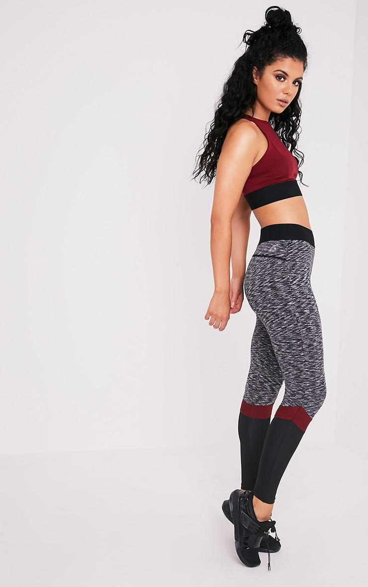Kenna Berry Panelled Gym Leggings 1