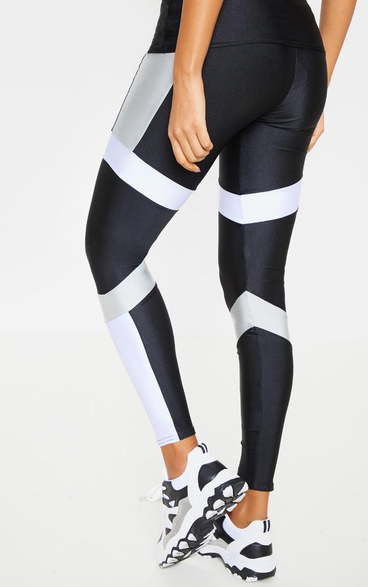 Black Mono Panel Gym Leggings 3