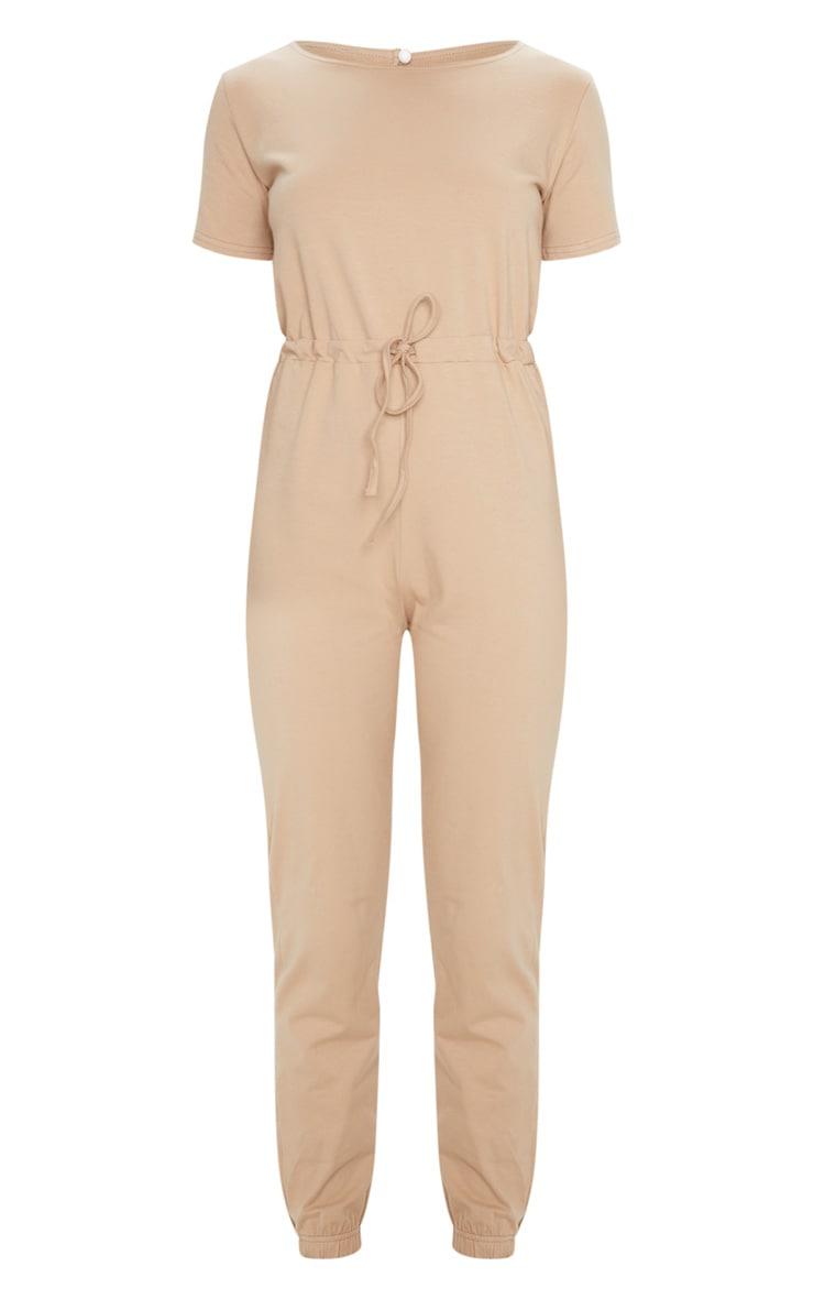 Stone Cotton Elastane Short Sleeve Jumpsuit 5