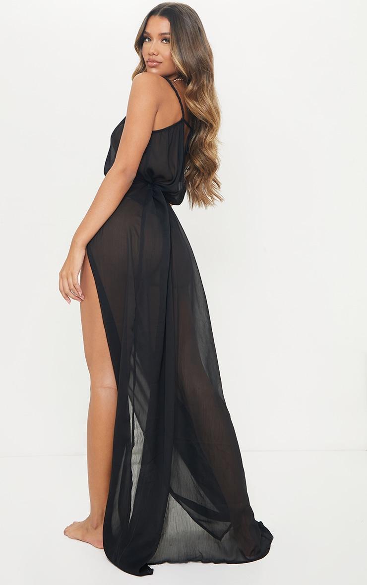 Black Plait Detail Beach Dress 2
