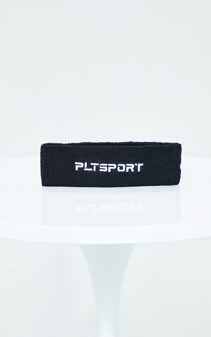 PRETTYLITTLETHING Black Sport Sweat Headband 2
