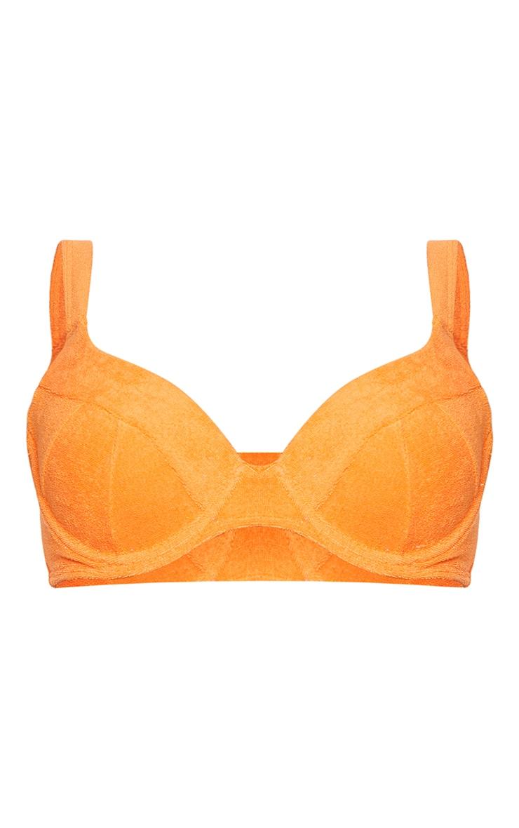 Orange Towel Push Up Cupped Bikini Top 5