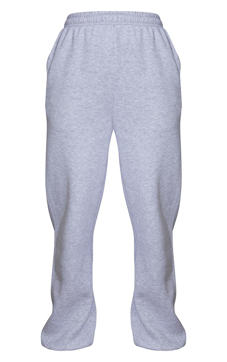 Jogging oversize gris chiné à jambes évasées et cordons ajustables 5