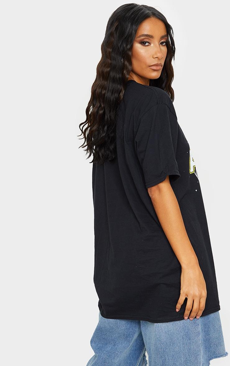 Black ACDC Printed T Shirt 2