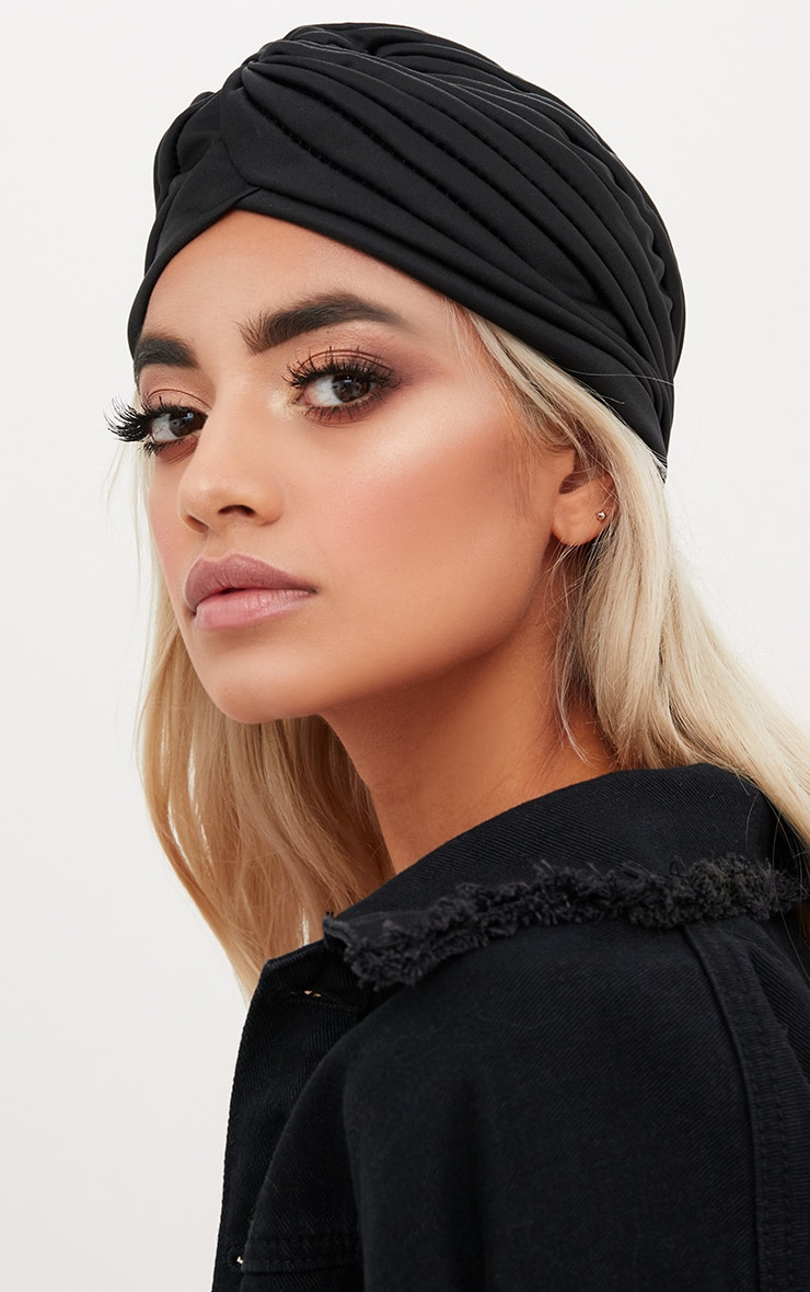 Black Knotted Turban 2