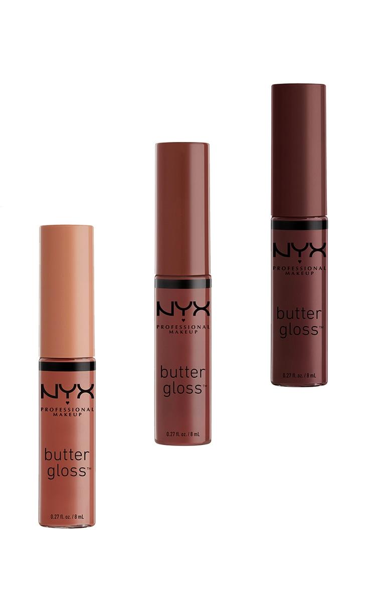 NYX PMU Diamonds & Ice Please Butter Gloss Nude Lip Trio 02 3