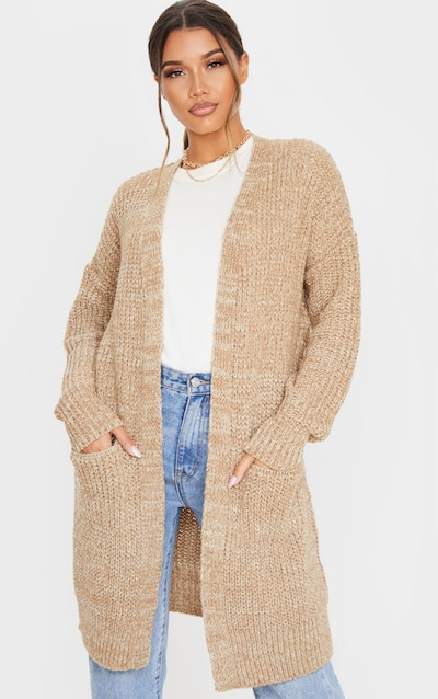 Stone Two Tone Cable Knit Cardigan