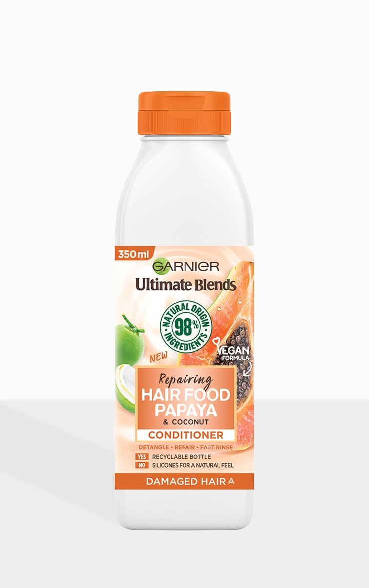 Garnier Ultimate Blends Repairing Hair Food Papaya Conditioner For Damaged Hair 350ml 2