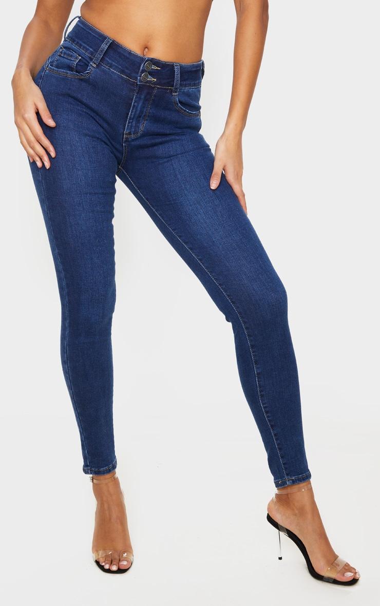 Dark Wash Bum Shape Skinny Jeans 2