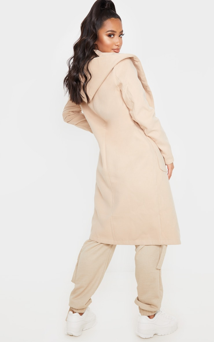 Petite Waterfall Stone Hooded Coat 2