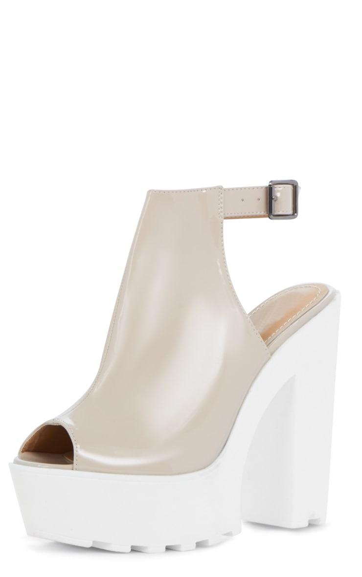 Jessica Patent Nude Strap Platform Heels 3