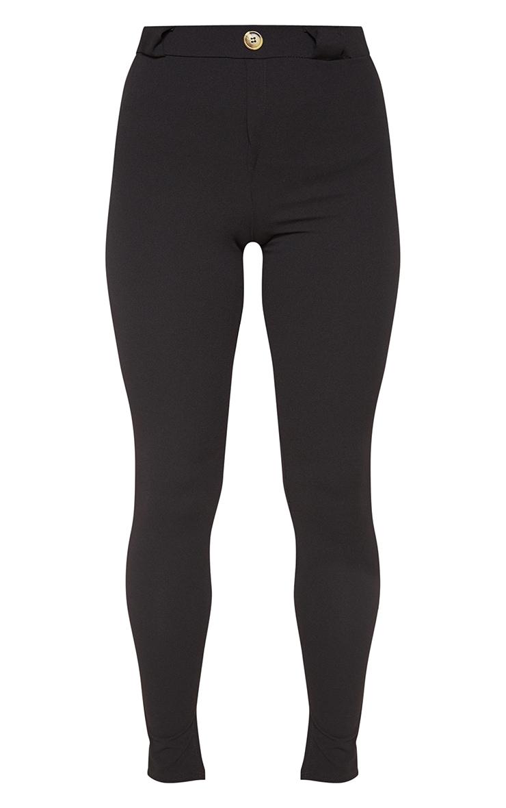Black Crepe Split Hem Skinny Trouser 3