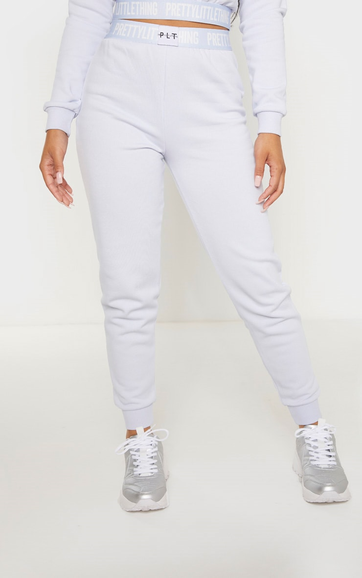 PRETTYLITTLETHING Petite Baby Blue Lounge Jogger 2