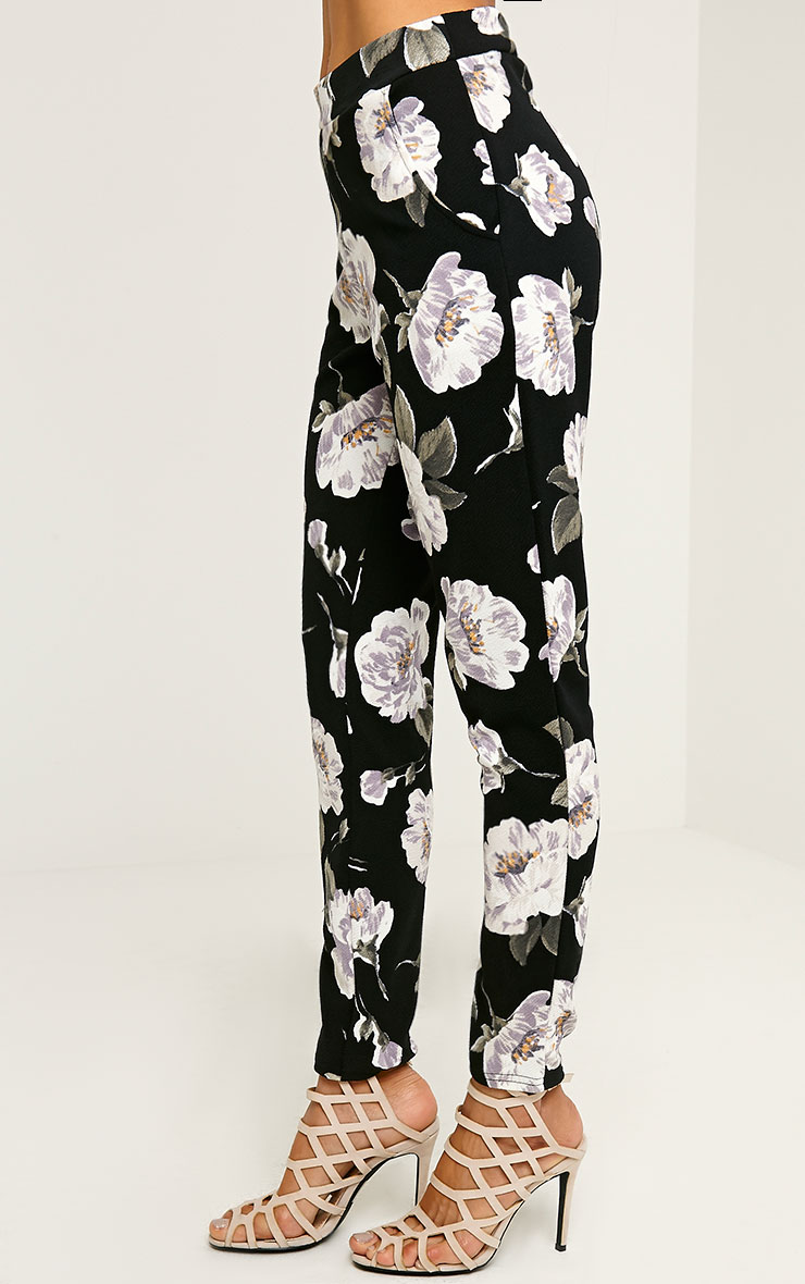 Avril Ivory Floral Printed Trousers 3