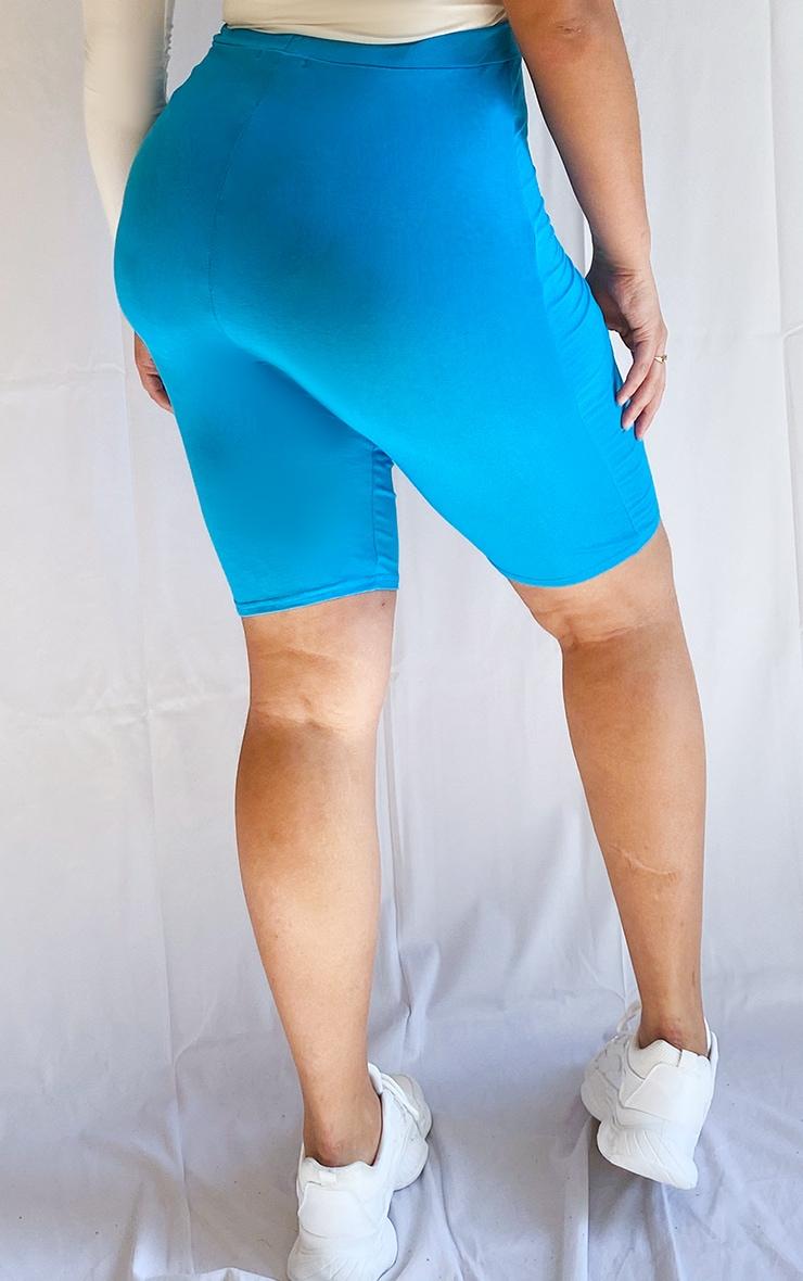 Plus Light Blue Basic Bike Shorts 3