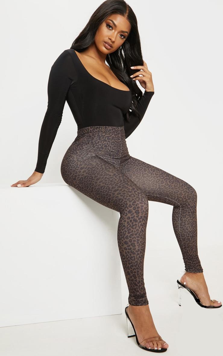 Shape Brown Leopard Legging  1