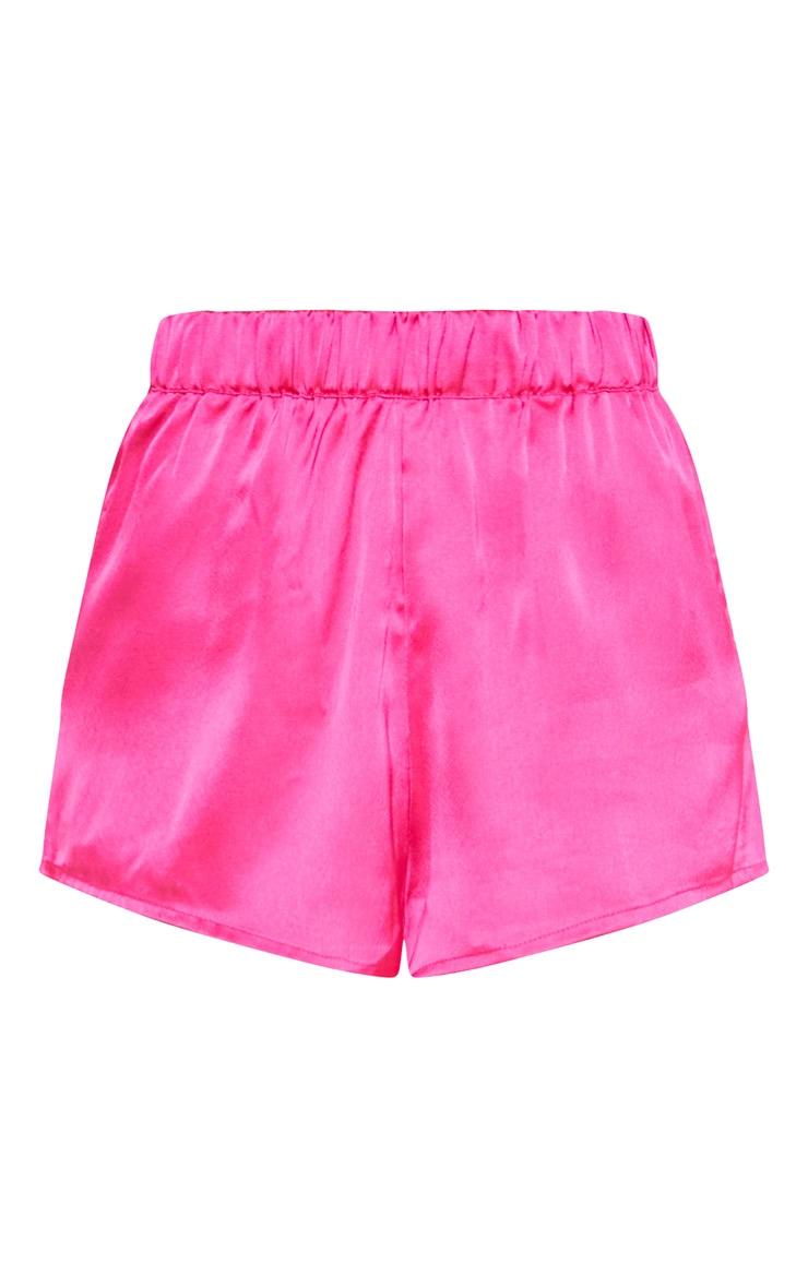 Fuchsia Bow Back Short Pyjama Set  4