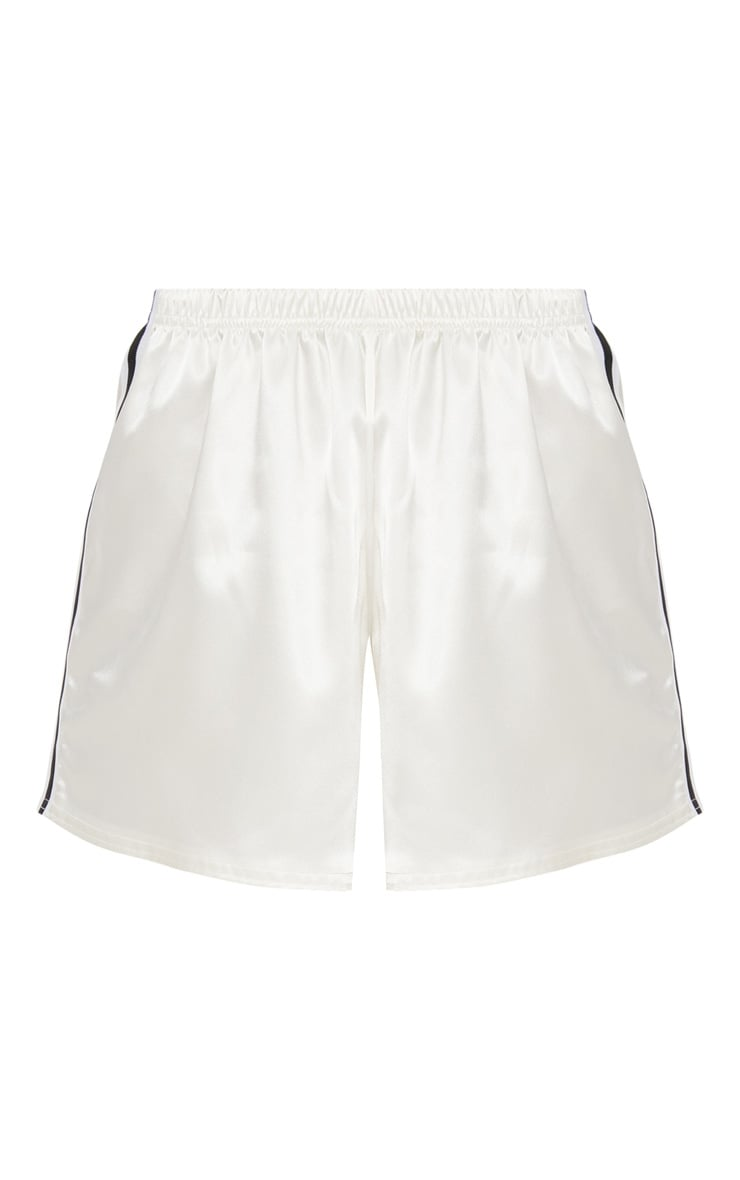 Ivory Satin Side Stripe Short 3