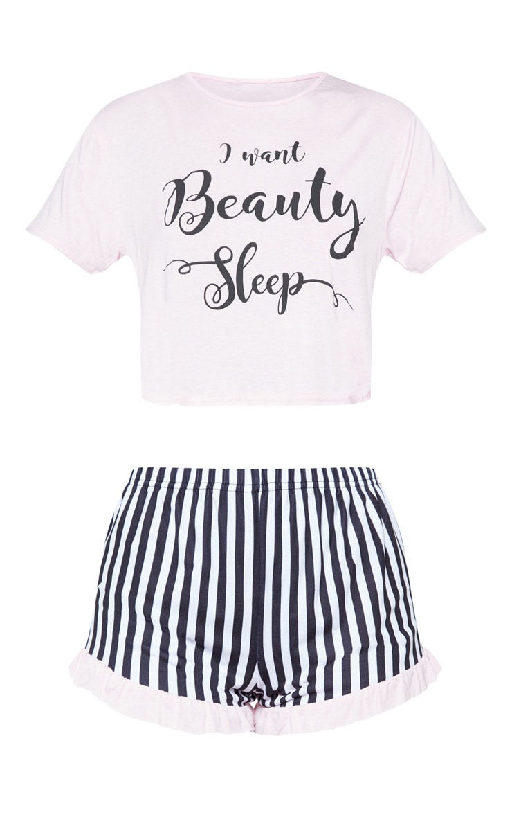 Ensemble pyjama rose top & short Beauty Sleep 3