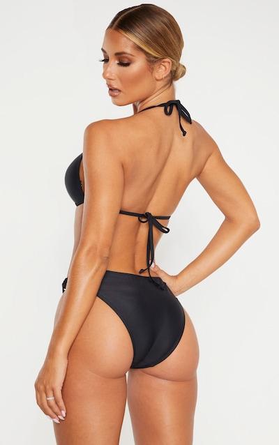 Black Tortoise Ring Padded Triangle Bikini Top