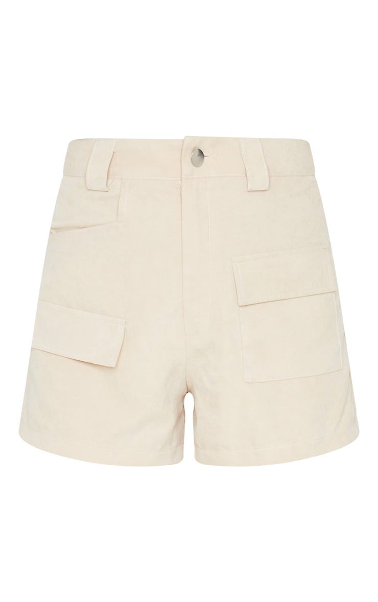 Stone Faux Suede Pocket Detail Short 3