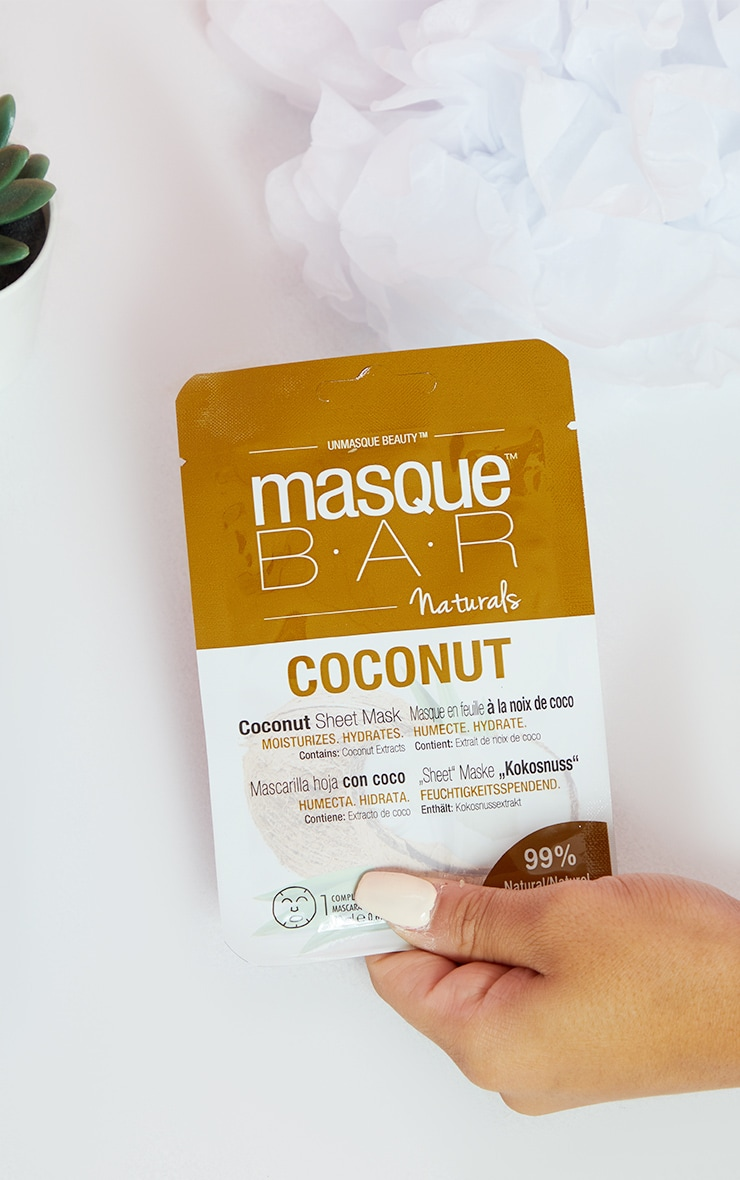 MasqueBAR Naturals Coconut Sheet Mask 1
