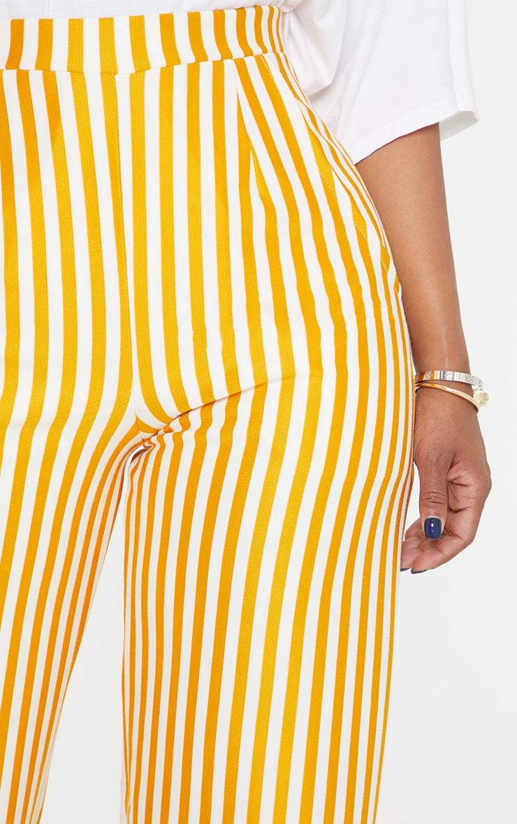 Shape Mustard Striped Wide Leg Trousers 5