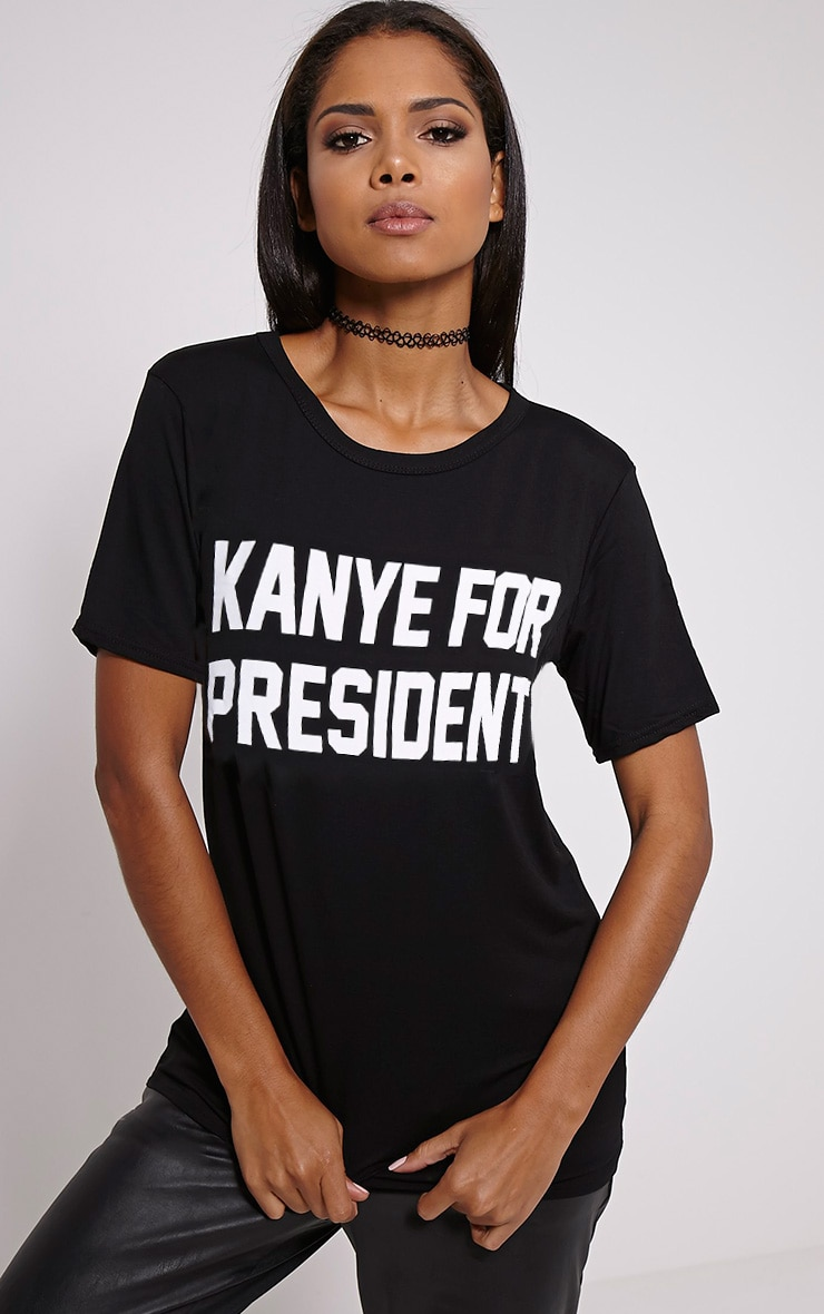 Kanye For President Black T-Shirt 1