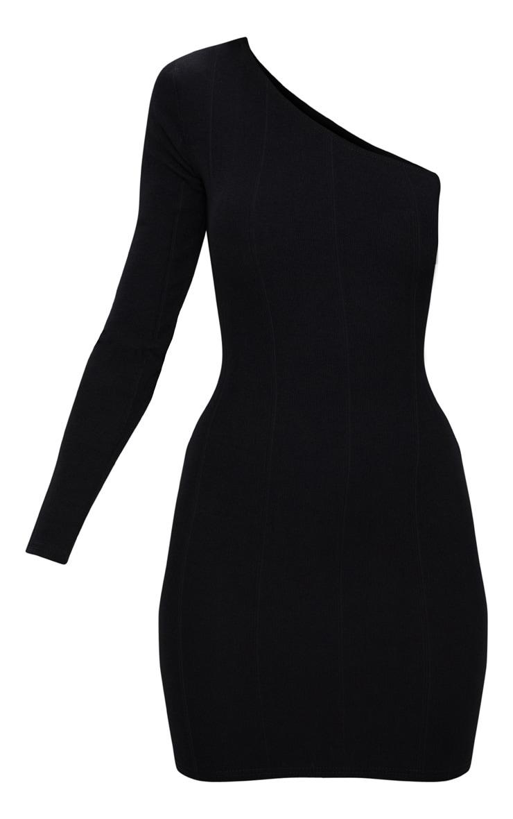Black Bandage One Sleeve Bodycon Dress 3