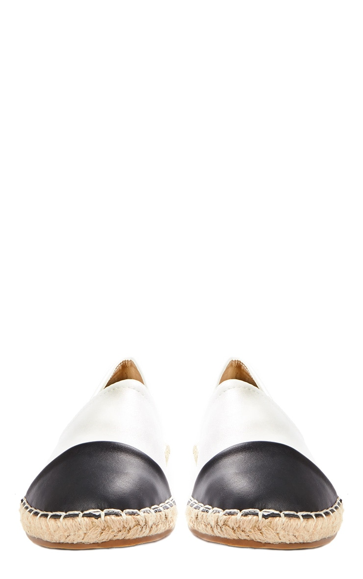 Diana White & Black Espadrilles 2