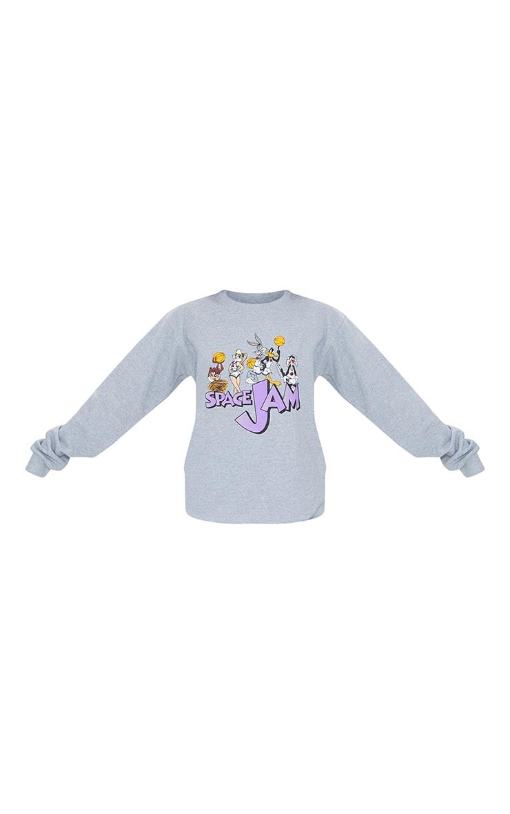Grey Space Jam Printed Sweatshirt 5