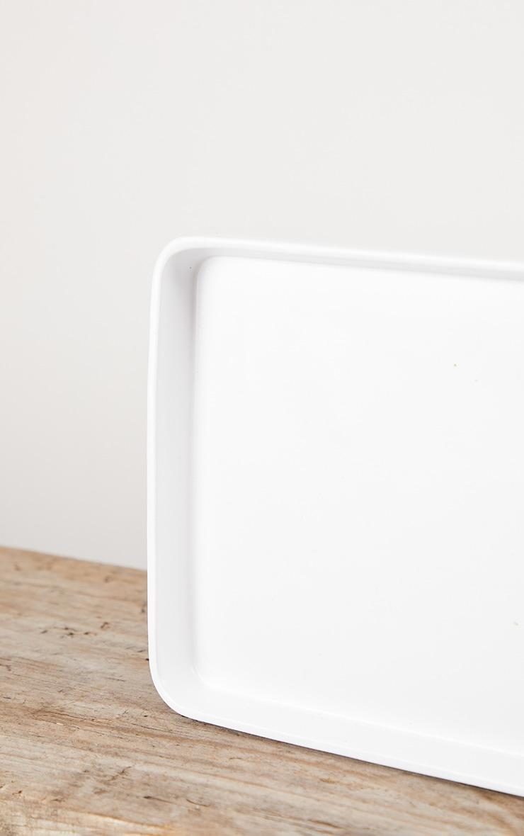Matte White Decorative Tray Small 4