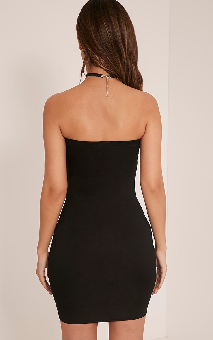 Lorrie Black Bandeau Bodycon Dress 2