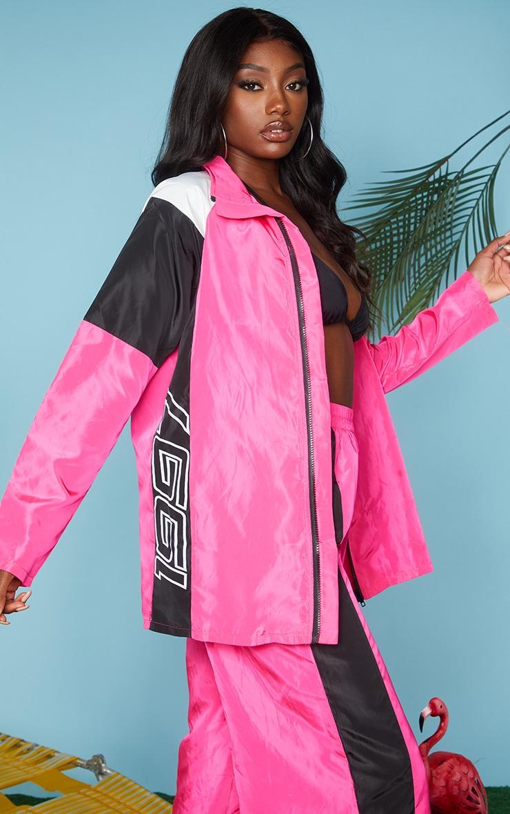 Pink Nylon 1997 Oversized Sports Jacket 4