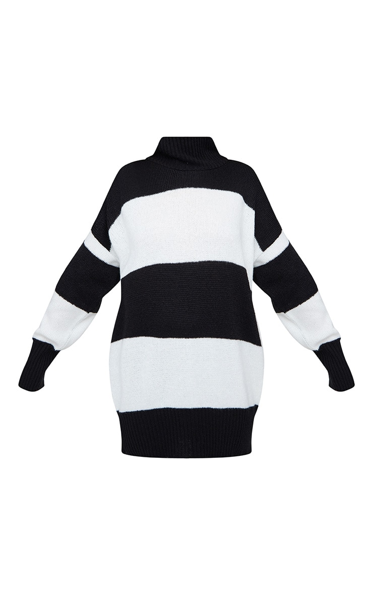 Black Stripe Oversized Knitted Jumper 3