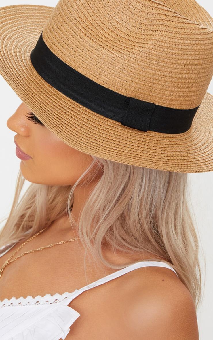 Straw Trilby Hat 5