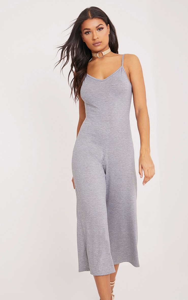 Kailyn Grey Jersey Culotte Jumpsuit 4