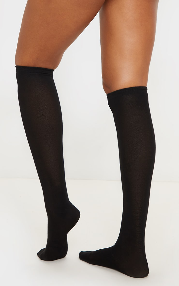 Black Over The Knee Socks Three Pack 3