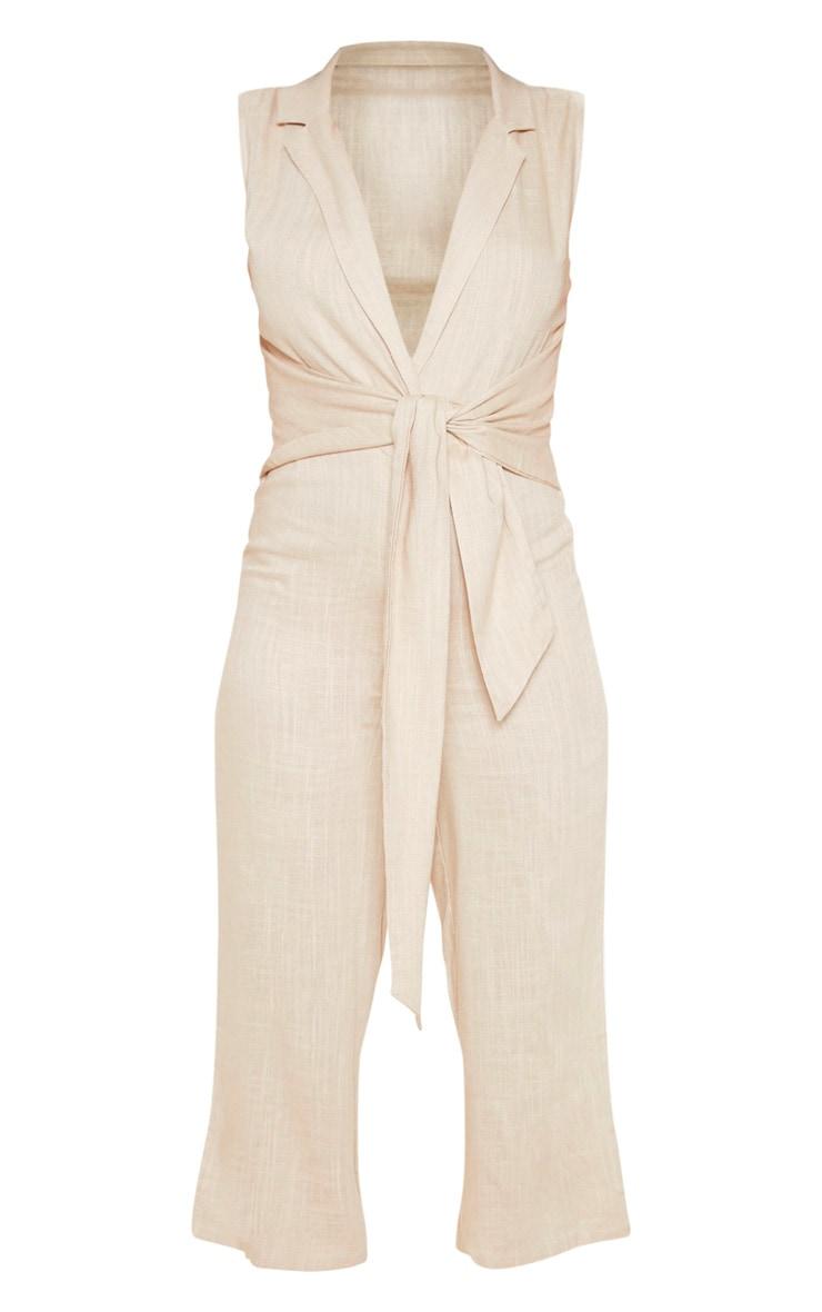Stone Blazer Style Tie Waist Jumpsuit 3