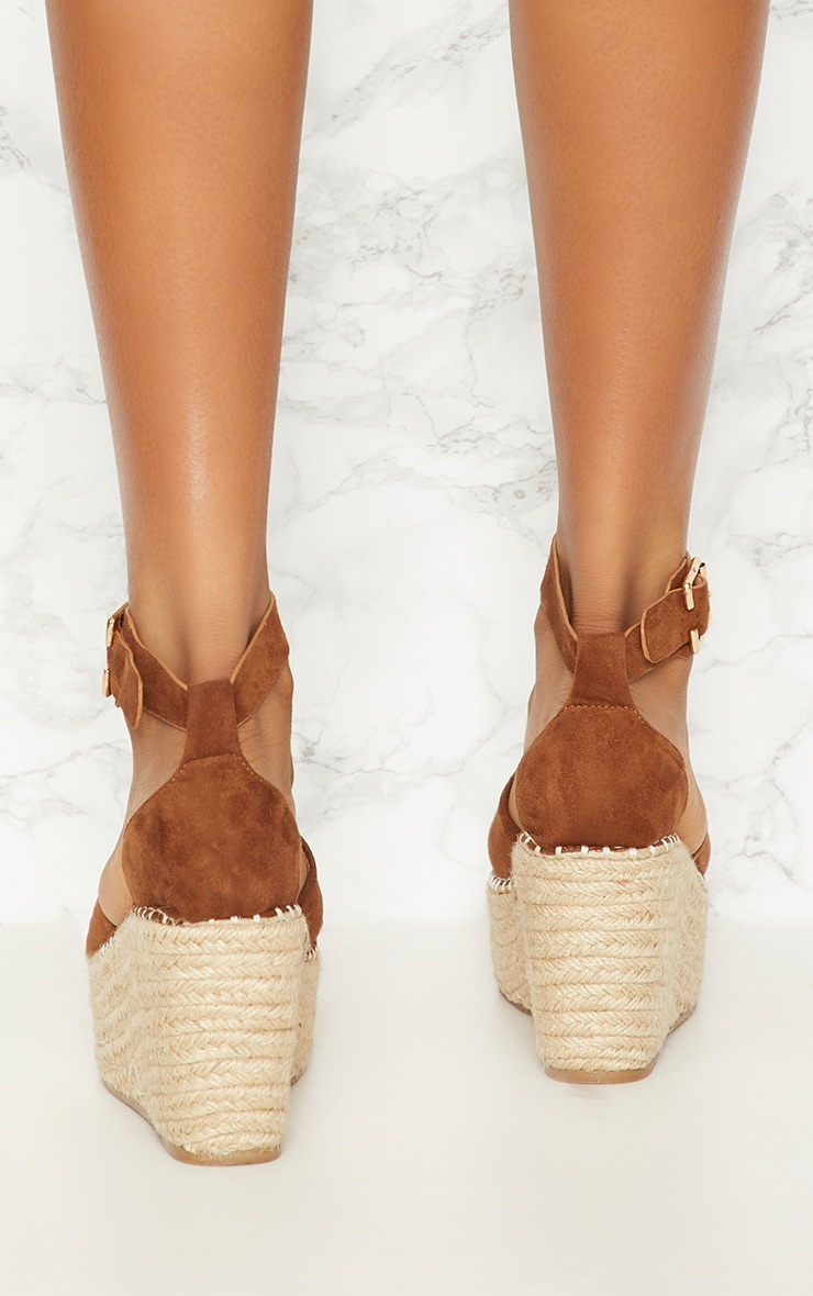 Tan Espadrille Wedge 3