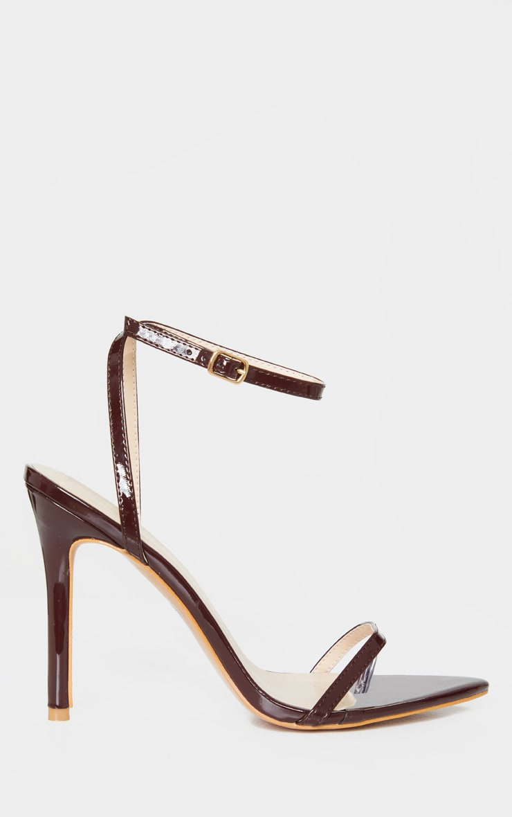 Chocolate Toe Thong Ankle Strap Point Toe Heeled Sandal 4