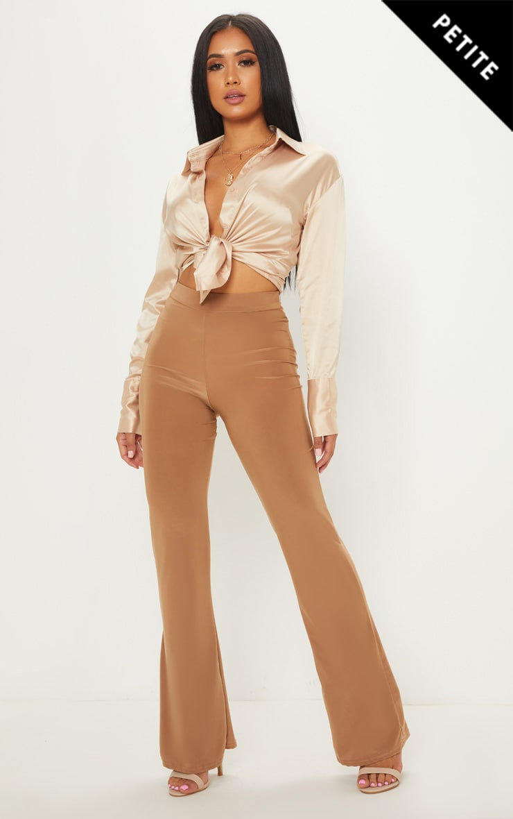 Petite - Pantalon droit camel