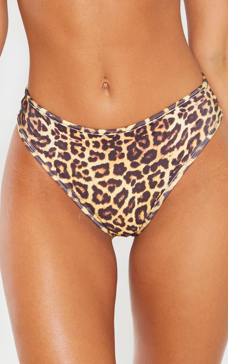 Leopard Mix & Match V Front Brazilian Bikini Bottom 6