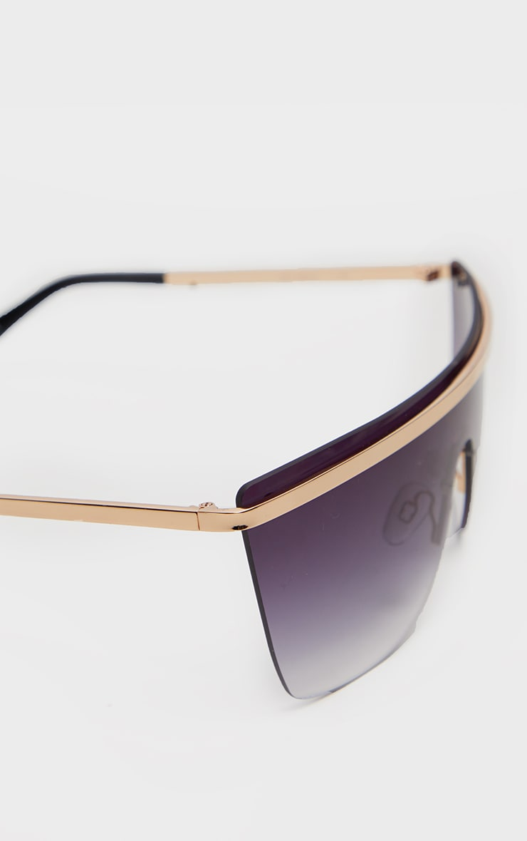 QUAY Gold And Black Get Righ Sunglasses 4