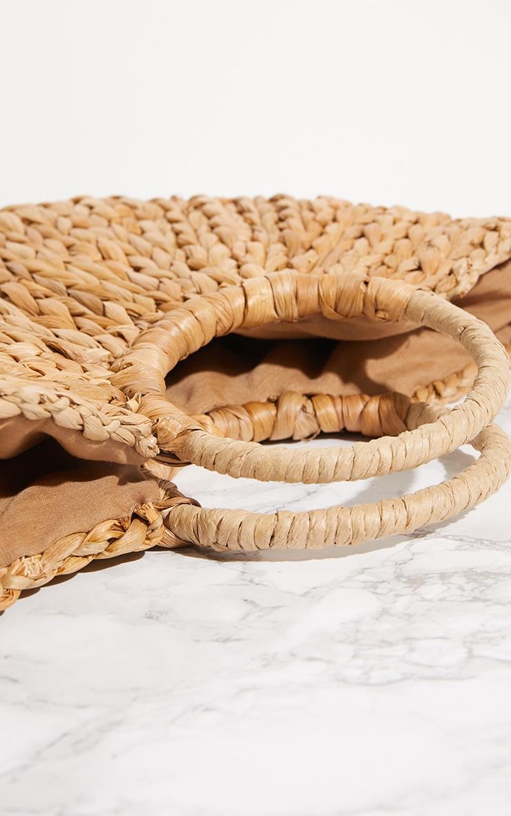 Straw Half Circle Bag 5