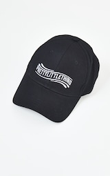 PRETTYLITTLETHING Black Wave Baseball Cap 2
