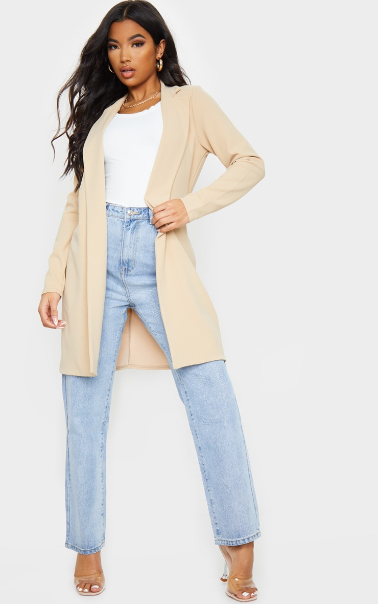 Stone Longline Collar Duster Jacket 1